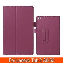 """Модный раскладной чехол для lenovo Tab 2 A8 8,0 из искусственной кожи Защитная крышка для lenovo Tab 2 A8-50 A8-50F A8 50 """" чехол для планшета"""