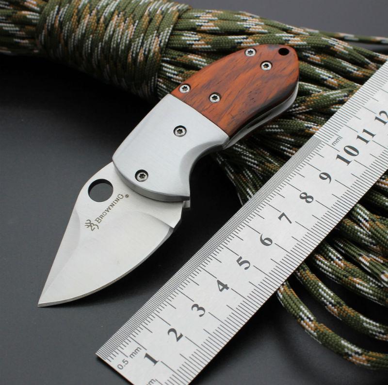 59 60HRC D2 Blade BROWNING Survival font b Knife b font Folding font b Knife b
