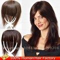 11*12 см Моно Сетку Для Волос парик шнурка человеческих волос кусок замены систем топпер тонкая кожа темно-русый Зажим у Женщин парики