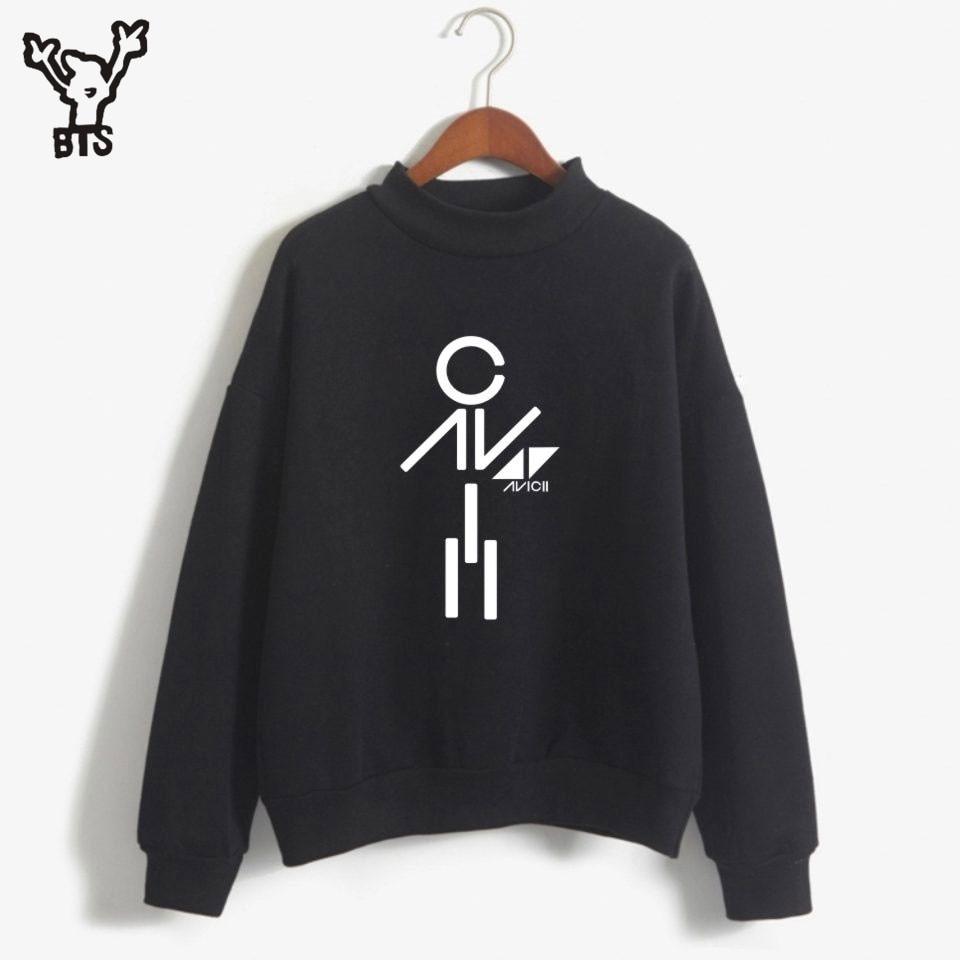 BTS Avicii Hot Sale Anime Print Women/Men Sweatshirt Fashion Design Long Sweatshirt Fashion Turtleneck Autumn Plus Size 4XLA7903