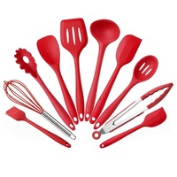 Silicone Heat Resistant Kitchen Cooking Utensil 10 Piece Cooking Set Non Stick Cookware Cooking Tool Set Kitchen Gadgets