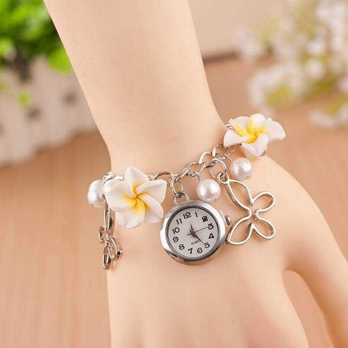 Womens Flower Bracelet Wristwatch Reloj Montre Femmes 2018 ...