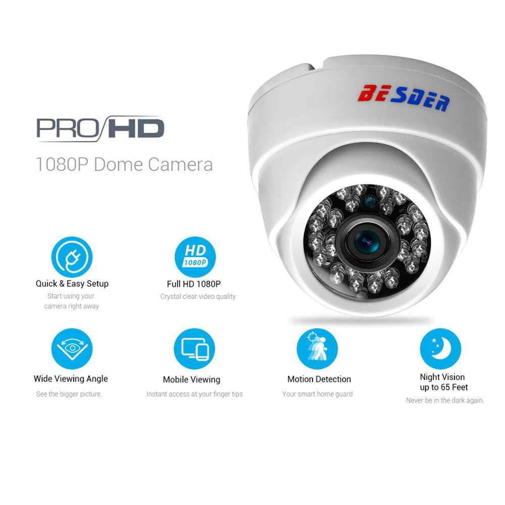 BESDER 2.8MM רחב זווית IP מצלמה 720P/1080P P2P H.264 Onvif קטן כיפה מעקב וידאו מצלמה RTSP 48V POE XMEye