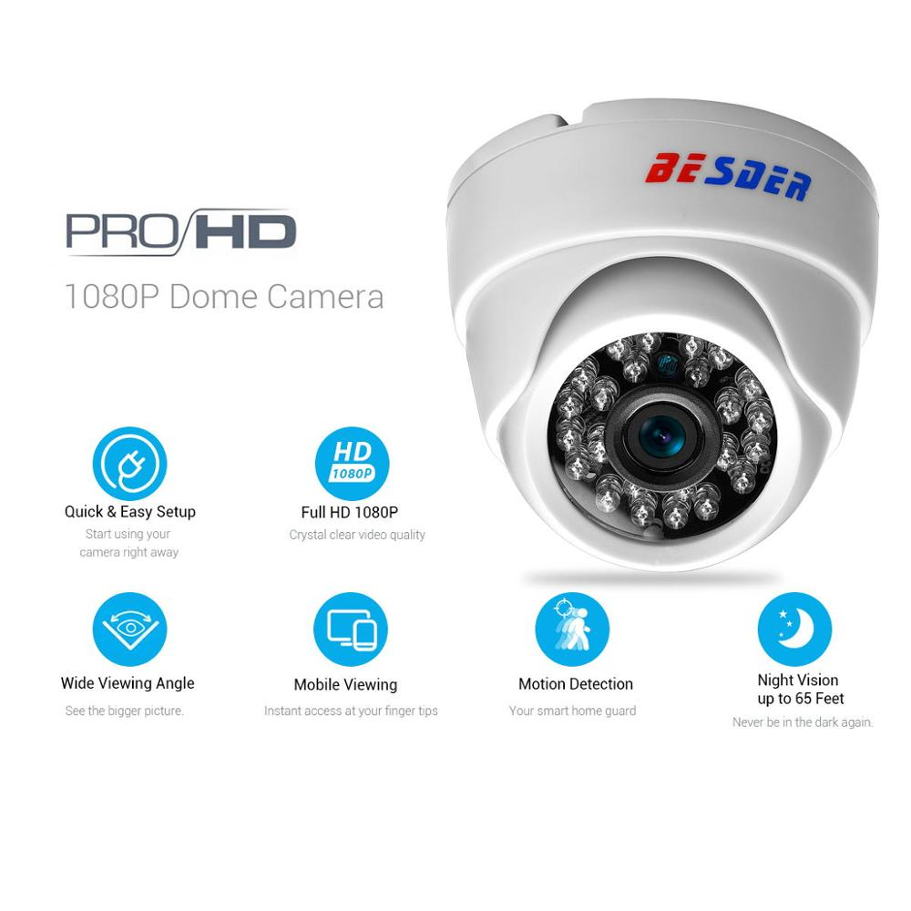 Image 2 - BESDER 2.8MM Wide Angle IP Camera 720P/1080P P2P H.264 Onvif Small CCTV Indoor Dome Surveillance Video Camera RTSP 48V POE XMEye-in Surveillance Cameras from Security & Protection
