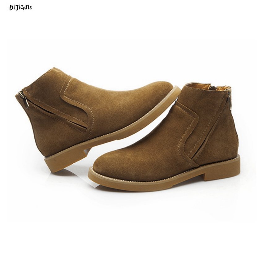 Women Genuine Leather Suede Ankle Boots Fashion Casual Shoes Short Booties for Spring Autumn Winter xml05 chunky british vintage suede women genuine leather shoes booties high heel front lace up casual ankle boots autumn brown short