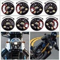 Hjyueng 80 Вт 7 дюймов круглый мотоцикла светодиодный проектор daymaker фар высокого ближнего света для Harley BMW R ninet r9t светодиодный фар