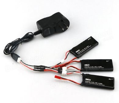 EBOYU(TM) Hubsan H502S H502E X4 RC Quadcopter Parts 3 X Lipo Battery 7.4V 610mAh 15C & Charger купить