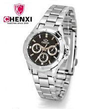 chenxi 1040 Natate 腕時計フルステンレス鋼女性クォーツダイヤル装飾ビジネス腕時計