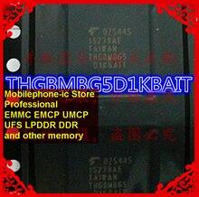 THGBMBG5D1KBAIT Малый размер BGA153Ball EMMC 4 Гб памяти мобильного телефона новые оригинальные и б/у припаянные шарики протестированы ОК