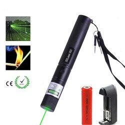 لمسافات طويلة الأحمر الأخضر شعاع الليزر البصر 532nm الليزر قابل للتعديل قوية 303 مؤشر ليزر شاحن ل 18650 بطارية