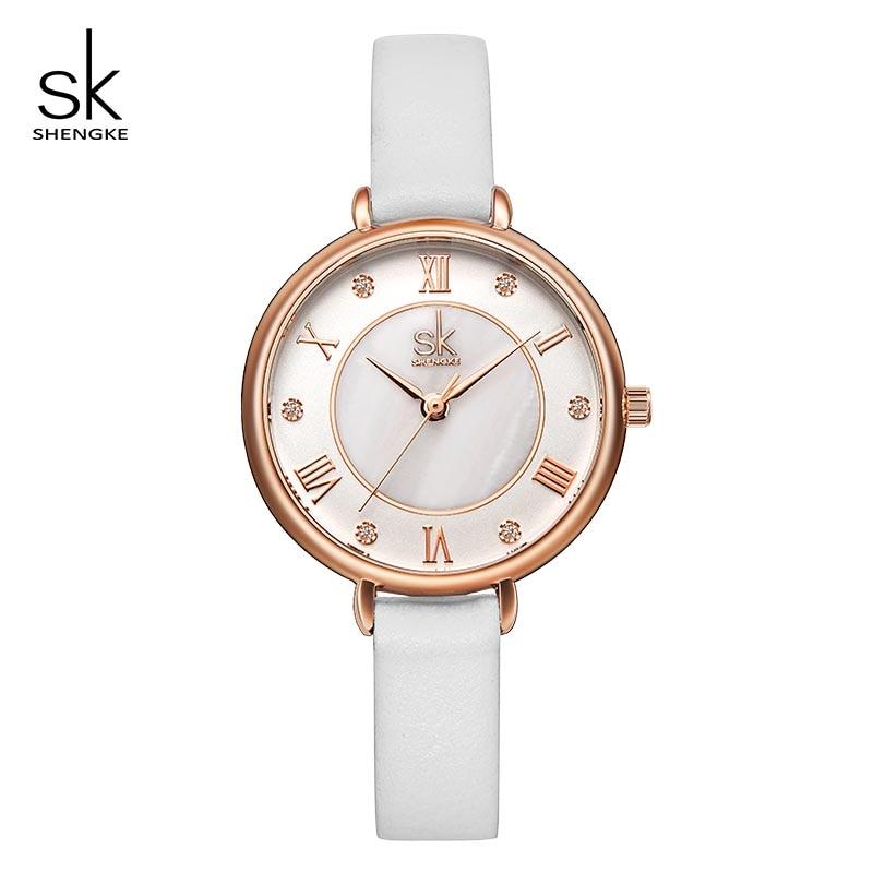 Shengke Women Watches Creative Simple Dial Ladies Quartz Wrist Watch Clock Bayan Kol Saati Relogio Feminino Reloj Mujer