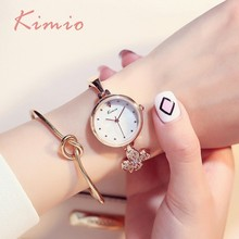 hot deal buy kimio clover flower designer brand luxury women watches rose gold watch bracelet lady watch for woman girl womens wristwatch