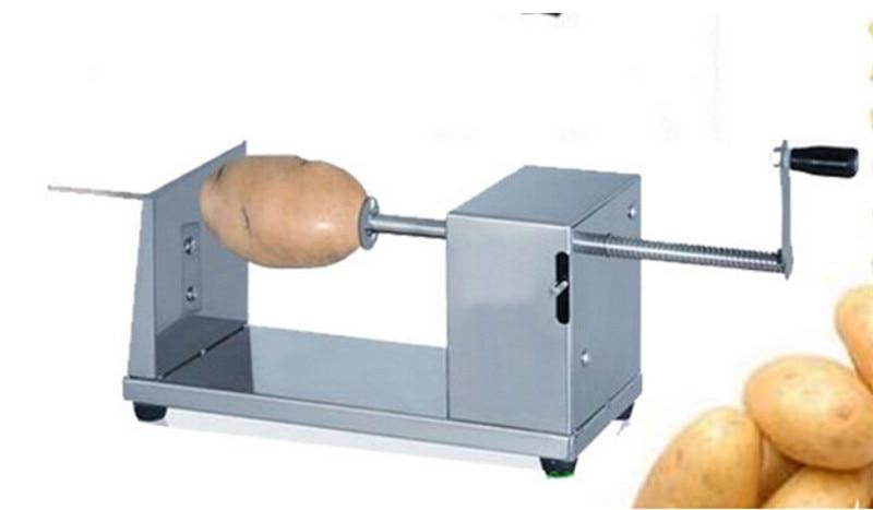 100pcs/lot manual Tornado potato spiral cutting shredders machine slicers murphy spud potato chips twist cutter machine