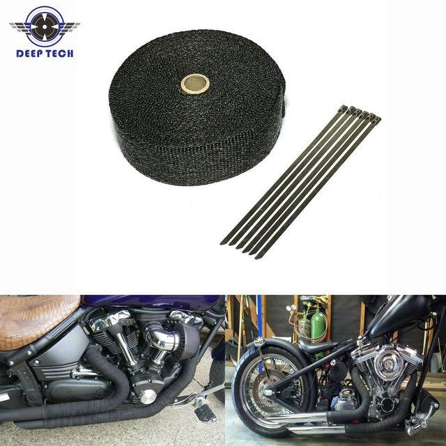 Черные выхлопные трубы 10 м * 2 дюйма, выхлопные трубы для мотоцикла