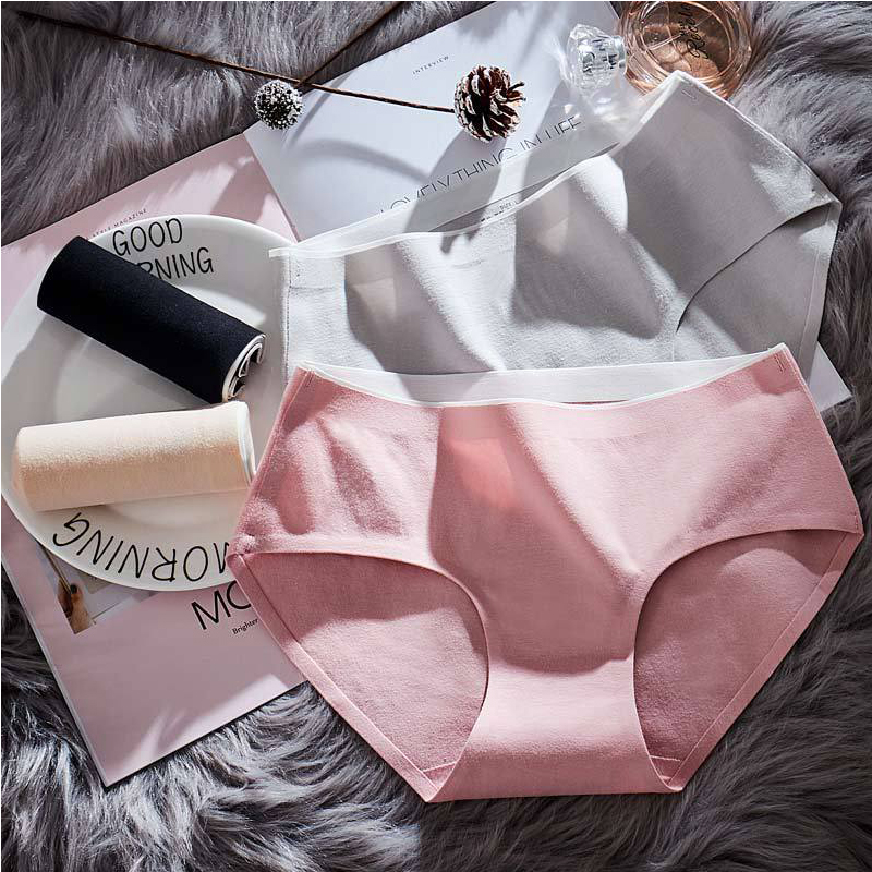 2018 exy woman   panties   fashion women shorts cotton   panties   woman underwear Solid color seamless   panties   girl women's   Panty   sizes