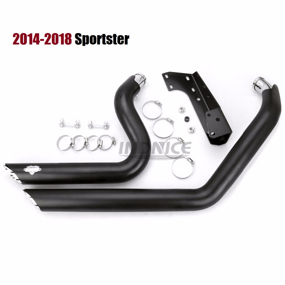 Black exhuast mufflers for harley iron 883 Shortshots Exhaust Pipes for Harley Sportster xl883 exhaust sets xl1200 2014-2018
