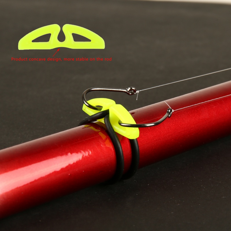 10pcs Hook Secure Keepers Holders Lures Jig Hooks Safe Keeping for Fishing Rod Outdoor Hook Secure Keepers грабли fit 77006