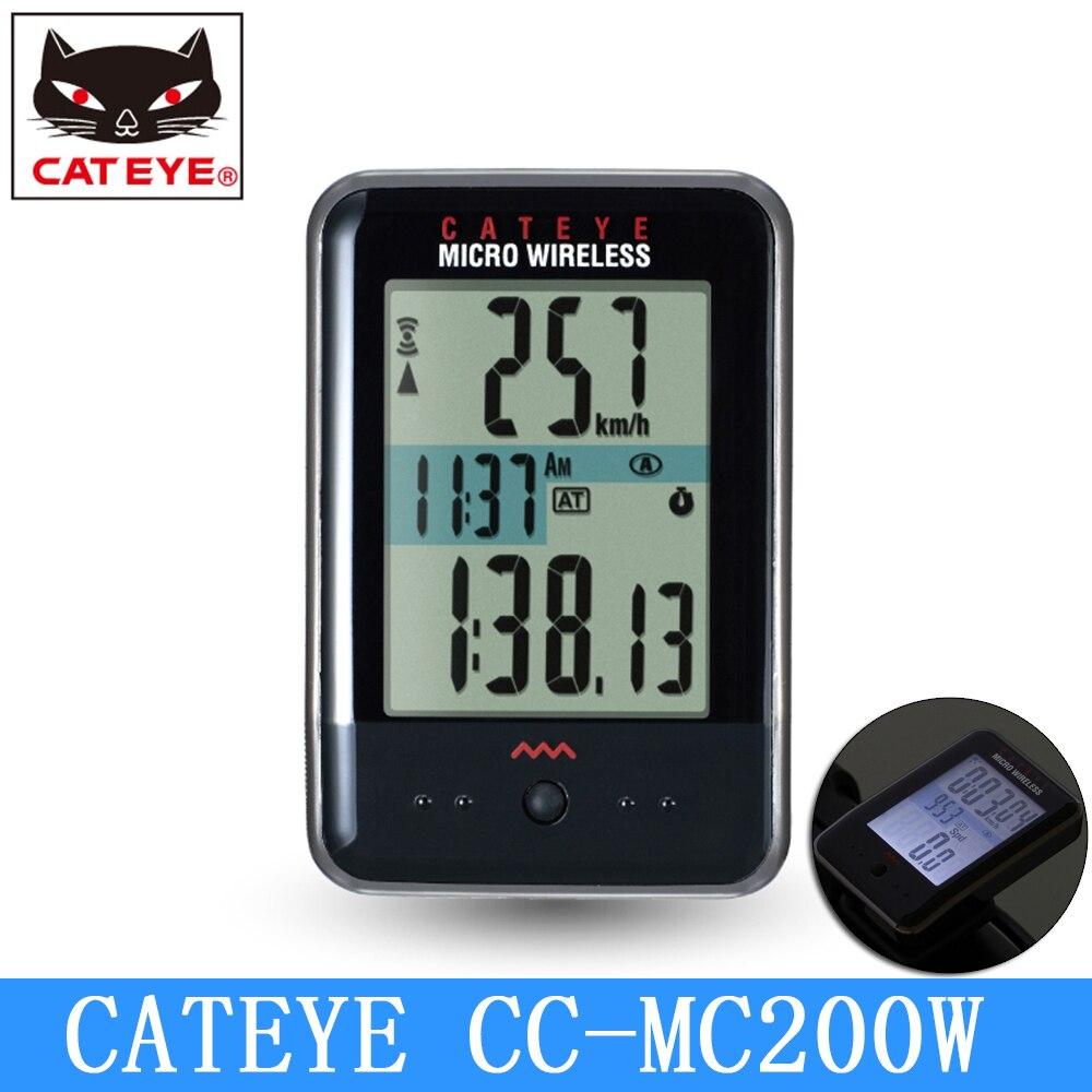 CATEYE CC MC200W Cycling MICRO Bicycle computer Digital Wireless stopwatch Bike speedometer Sports night ride back