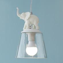 купить Modern nordic elephant LED pendant lights creative for living room hanging living room glass lamp children room lamp Simple E27 дешево