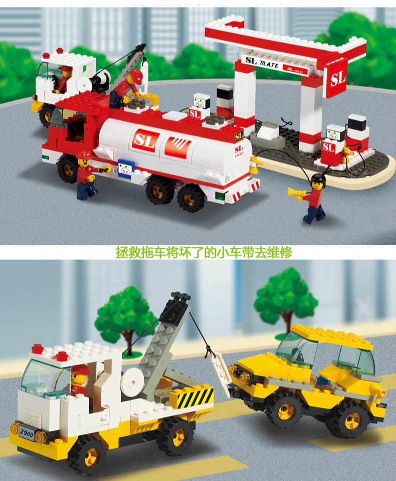 Конструктор Sluban совместим с Lego B2900 727 P Модели Строительные Конструкторы Игрушки Хобби для Chlidren