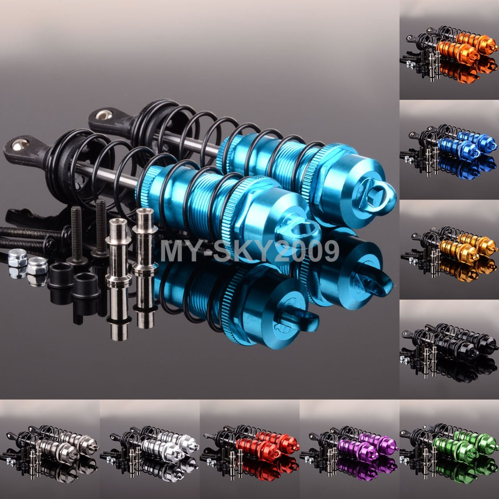 2pcs Aluminum Front Shock Absorber 120mm For RC 1:8 Truck HSP KYOSHO NANDO TAMIYA fid closed damping ball group rod shock absorber cap for lt 5t 1 set