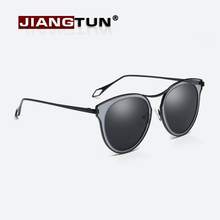 JIANGTUN Fashion Sunglasses 2017 Newest Cat Eye Sun glasses Mirror Eyeglasses Women Brand Designer Outdoor Goggle UV400