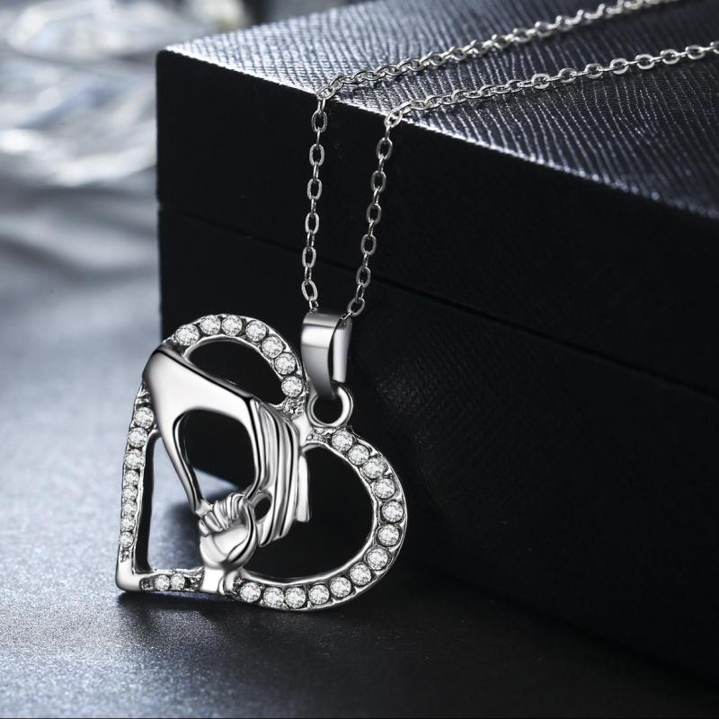 1Pcs Couple Love Cat Stainless Steel Pendant Necklace Mother/'s Day Jewelry Gift