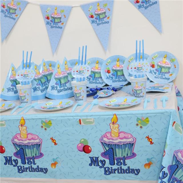 102 Stucke Kinder Ersten Geburtstag Party Set 10 Menschen Madchen Junge Erste Thema Supplies