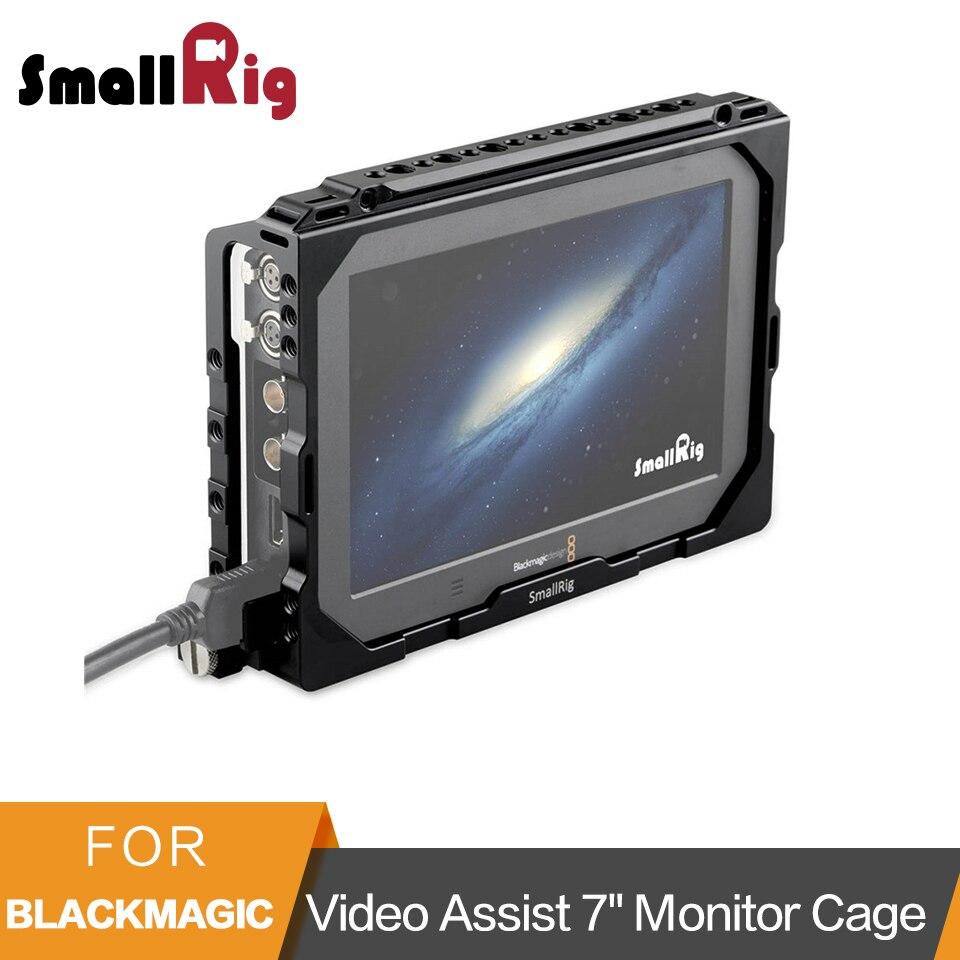 SMALLRIG 7 Inch Monitor Cage for Blackmagic Video Assist 7 With NATO Rail Side Rail 1830