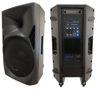 STARAUDIO 1Pc 15 3500W PA DJ Stage Powered Active MP3 SD FM Karaoke Speaker with LED Light SPS 15RGB