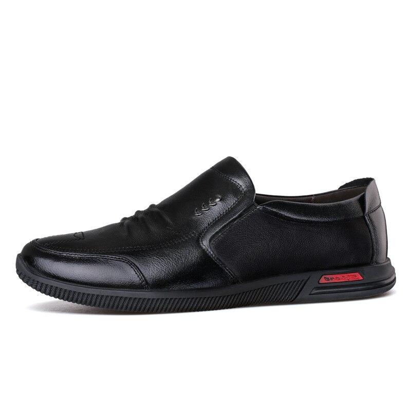 2 Hommes De Pieds Mode red Nouveaux Occasionnels And Mis D'affaires Chaussures Printemps Les 2018 Couche couleur Cuir Des Brown Noir Conduite En F5aqt