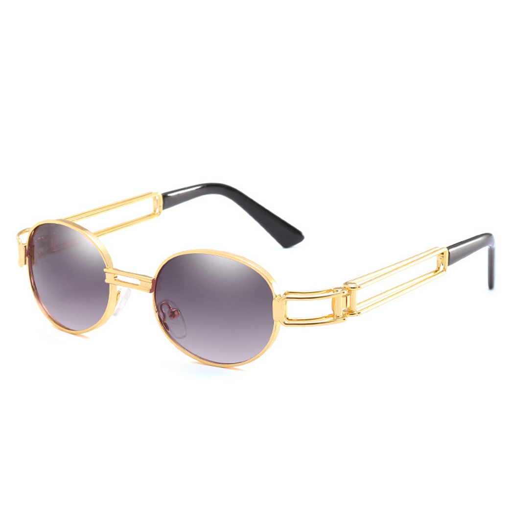 4cb7e1d3d4 Retro Steampunk 90s Sunglasses Women Men 80s Tinted Hipster Clear Sunglass  Vintage Gold Metal Frame Sun Glasses Eyewear