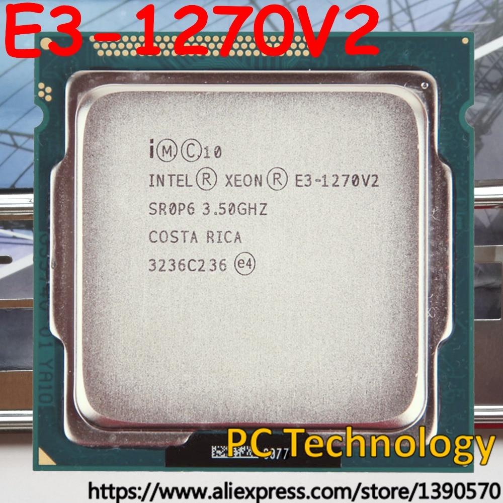 Original Intel Xeon E3 1270V2 CPU E3 1270 V2 3 50GHz 8M LGA1155 E3 1270V2 Desktop
