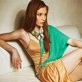 Mujeres Patrón Impreso Bufandas de Seda Bufanda Pendiente de la Joyería Crytstal Perla Accesorios Mujeres Desigual Bufanda 2016 Nuevo Estilo de la Primavera