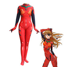 2019 new Evangelion Mingrixiang EVA Asuka Langley cosplay Siamese tights A suit customize Posting