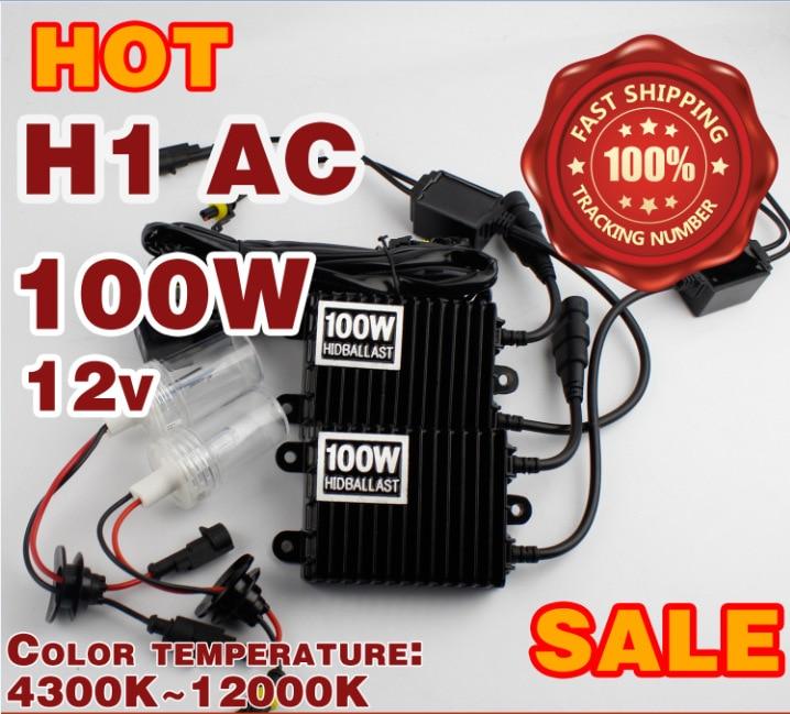 100 Вт HID комплект 12 В переменного тока 100 Вт HID тонкий балласт H1 Н3 Н7 н8 Н9 Н10 Н11 9005 НВ3 НВ4 9006 один Луч 100Вт Ксеноновые лампы 4300К-12000К
