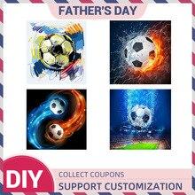 5D DIY Diamond Painting Kit Accessory Full Square Drill Soccer Football Diamant Art Embroidery Cross Stitch 2019 Champion League