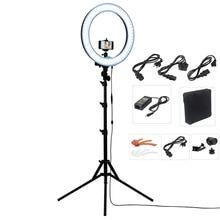 Кольцевой светильник для видеокамеры, фотокамеры Fosoto 18 «RL-18 LED + 2-х метровая подставка, 240 пикселей, LED 5500K, регулируемая яркость с фотовспышкой, крепящийся на телефон