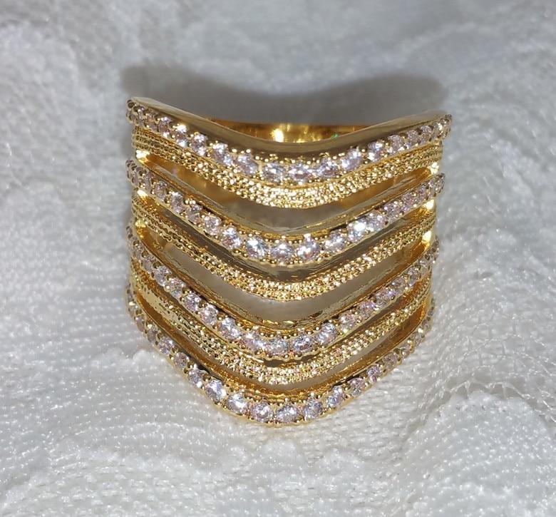Finger ring female vintage multi layer big ring charm lady night