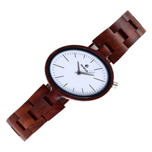 REDEAR Fashion Women Wood Watches Quartz Wristwatch Gift for Lady brand luxury Red Sandal ladies Wooden Watch Girls