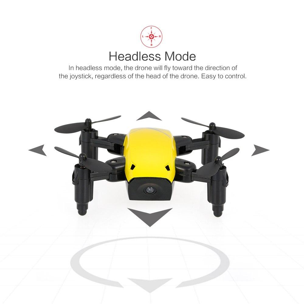 New Cute Mini Drone S9 2.4G 4CH 6-axis Gyro Selfie Drone Headless Mode One Key Return Foldable Dron RC Quadcopter RTF Gift (8)
