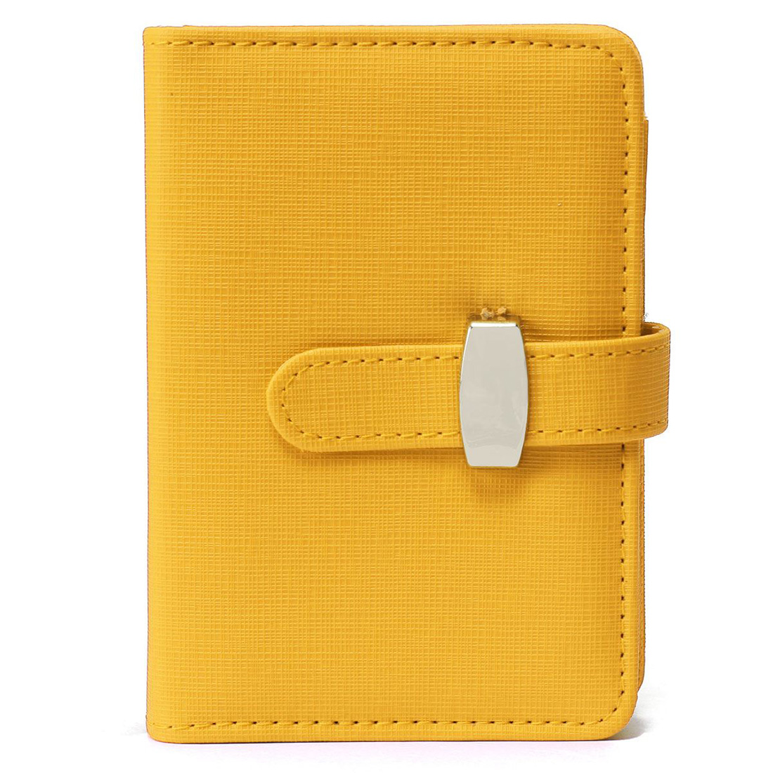 OFSS Modern Design A6 Personal Organiser Planner PU Leather Cover Diary Notebook School Office Stationery (Yellow)