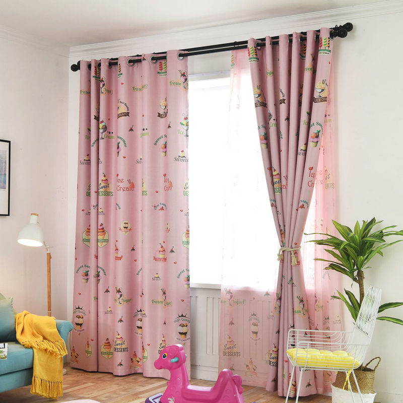 US $9.98 29% OFF|Rustic Window Curtains For living Room/Bedroom Blackout  Curtains Window Treatment /drapes Home Decor Tulip/leaves/Floral Pattern-in  ...