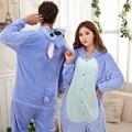 Azul Puntada Pareja Pijamas Pijamas Cosplay de la Historieta Animal Pijamas Onesies Adultos Trajes De Fiesta de Halloween Pijamas XXL