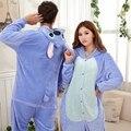 Ponto azul Casal Pijama Pijama Animal Dos Desenhos Animados Cosplay Pijamas Adultos Onesies Pijamas XXL Trajes de Festa Do Dia Das Bruxas