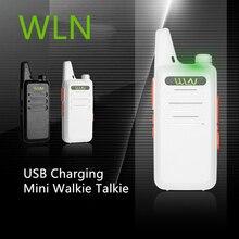 Walkie Talkie Mini WLN KD C1 Radio de dos vías para carreras de coches KDC1 CB estación de Radio aficionado UHF portátil inalámbrico FM transceptor