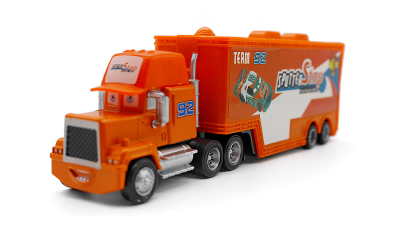 Pixar Automobiles Film Mack Uncle No.92 Sputter Cease Racer's Truck Metallic Diecast Automobile Truck Container 1:43 Alloy Mannequin child's toy