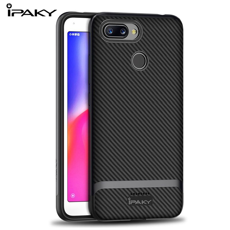 IPAKY For <font><b>Xiaomi</b></font> <font><b>redmi</b></font> 6 Pro Case TPU Silicon Shockproof Cover Case Xiomi <font><b>Redmi</b></font> <font><b>6A</b></font> <font><b>2</b></font>/3/4 16/<font><b>32</b></font>/64GB Hybrid Protective PC bumper image