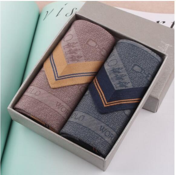 Luxury Mens Handkerchief Holiday Gifts Pocket Square Handkerchiefs Men Cotton 10 Style