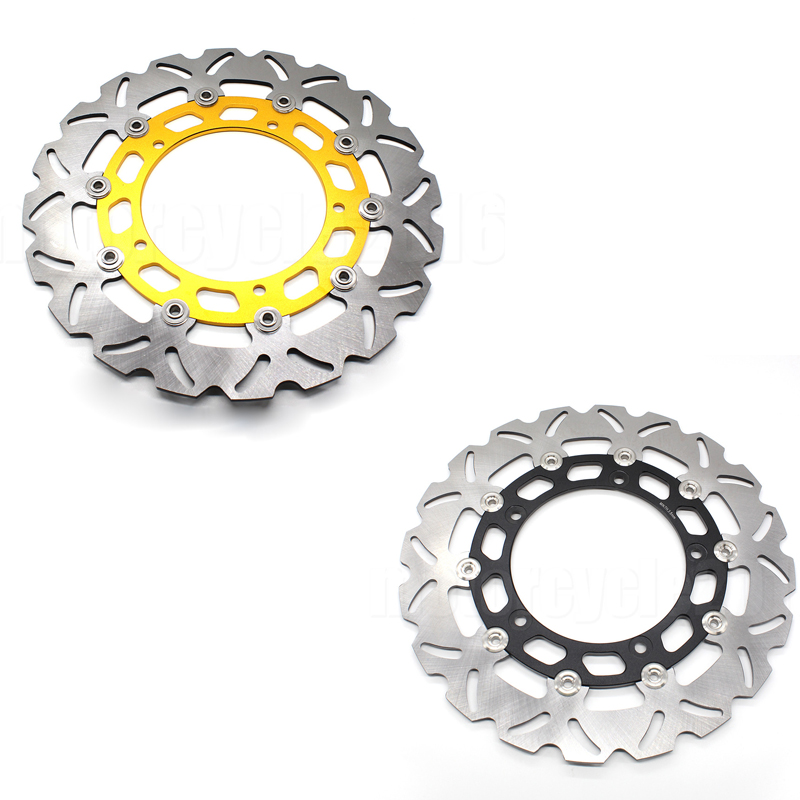 FXCNC Aluminum+Stainless Steel Motorcycle 300mm Front Brake Disc Rotor For Yamaha YZF R15 2015 Moto Accessories mfs motor motorcycle part front rear brake discs rotor for yamaha yzf r6 2003 2004 2005 yzfr6 03 04 05 gold